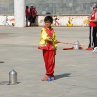 Joueurs de toupie sur plateau à Shuicheng
