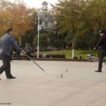 Les joueurs de toupie chinoise de Zhong Shan Park - Wuhan
