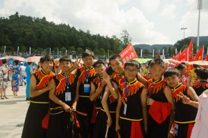 Youngsters from local whip school, during the opening ceremony